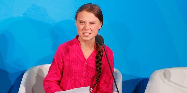 Greta Thunberg i New York den 23 september Jason DeCrow / TT NYHETSBYRÅN