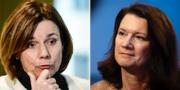 Utrikesminister Ann Linde (S) och miljöminister Isabella Lövin (MP) TT