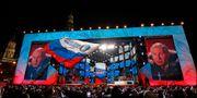 Vladimir Putin fick drygt tre av fyra rösterna. Pavel Golovkin / TT / NTB Scanpix