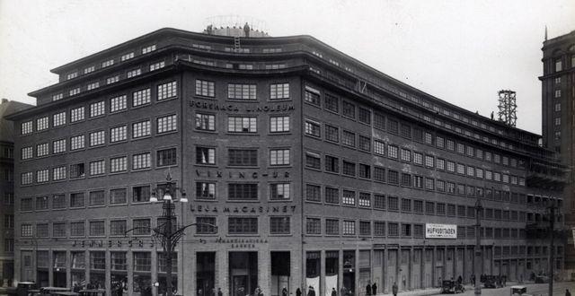 Centrumhuset färdigt. Bild ur Hufvudstadens historiska arkiv hos Centrum för Näringslivshistoria. Bild ur Hufvudstadens historiska arkiv hos Centrum för Näringslivshistoria.