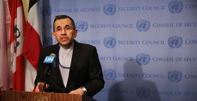 Irans FN-ambassadör Majid Takht Ravanchi  SPENCER PLATT / GETTY IMAGES NORTH AMERICA