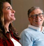 Melinda och Bill Gates. Arkivbild. Elaine Thompson / TT NYHETSBYRÅN/ NTB Scanpix