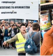 Afghanska ungdomar demonstrerar på Medborgarplatsen 2017/Illustrationsbild TT