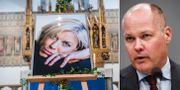 Bild från Josefin Nilssons begravning/Morgan Johansson. TT