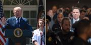 President Donald Trump och den tidigare FBI-chefen James Comey. TT