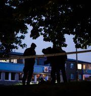 Polisen under en utryckning efter en skottlossning. Björn Larsson Rosvall/TT / TT NYHETSBYRÅN