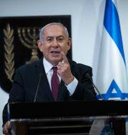 Benjamin Netanyahu håller tal i parlamentet, Knesset Yonatan Sindel / TT NYHETSBYRÅN