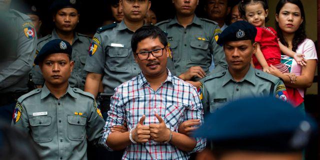 Wa Lone i rätten. YE AUNG THU / AFP