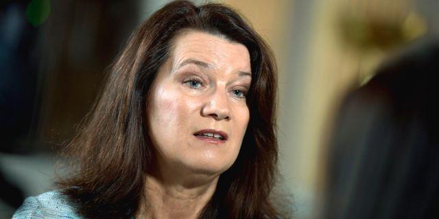 Ann Linde (S). Pontus Lundahl/TT / TT NYHETSBYRÅN