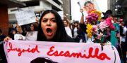 Demonstrant i Mexico City. Ginnette Riquelme / TT NYHETSBYRÅN