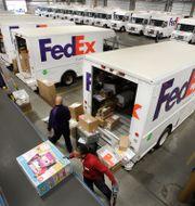 Ett av Fedex distributionslager i Bronx i New Yorks utkanter.  Mark Lennihan / TT NYHETSBYRÅN