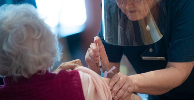 Vaccination i Stockholm. Fredrik Sandberg/TT / TT NYHETSBYRÅN