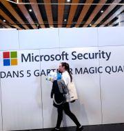 Bild från cybersäkerhetskonferens i norra Frankrike, 29 januari 2020.  Michel Spingler / TT NYHETSBYRÅN