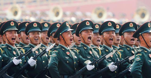 Kina är den tredje största kärnvapenmakten.  THOMAS PETER / TT NYHETSBYRÅN