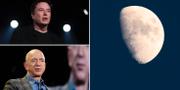 Elon Musk och Jeff Bezos. TT