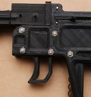 Vapenet som hittades hemma hos kvinna. Ur polisens förundersökning.