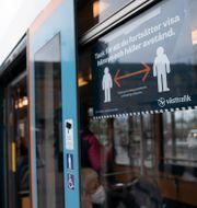 Spårvagnstrafik i Göteborg.  Björn Larsson Rosvall /TT / TT NYHETSBYRÅN