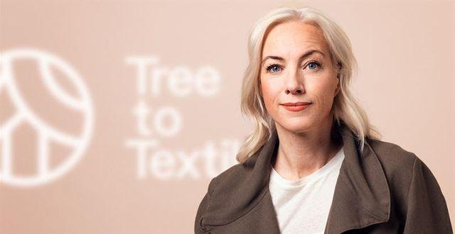 Sigrid Barnekow, vd Tree to Textile. Pressfoto