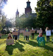 Klimatorganisationen Fridays for Future demonstrerar i Stockholm. Janerik Henriksson/TT / TT NYHETSBYRÅN