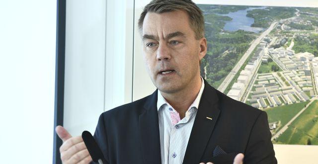 Peabs vd Jesper Göransson.  Claudio Bresciani/TT / TT NYHETSBYRÅN