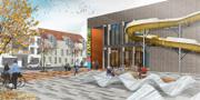 Förslag på hur det nya badhuset ska se ut. KÄVLINGE KOMMUN