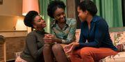 """Teyonah Parris, från vänster, KiKi Layne och Regina King från en scen ur """"If Beale Street could talk"""". Tatum Mangus / TT NYHETSBYRÅN/ NTB Scanpix"""