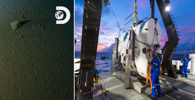 Föremål djupt ner på botten/undervattensfarkosten. TT