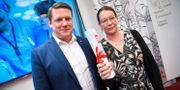 Kommunals förbundsordförande Tobias Baudin och avtalssekreterare Lenita Granlund. Fredrik Sandberg/TT / TT NYHETSBYRÅN