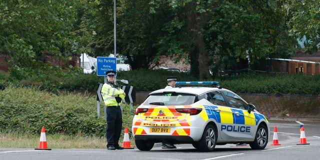 Polis på brottsplatsen. Alastair Grant / TT NYHETSBYRÅN