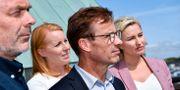 Alliansens partiledare Jan Björklund (L), Annie Lööf (C), Ulf Kristersson (M) och Ebba Busch Thor (KD).  Johan Nilsson/TT / TT NYHETSBYRÅN