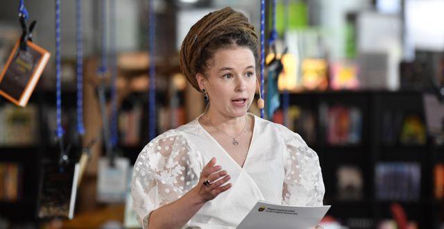 Kulturminister Amanda Lind (MP). Jessica Gow/TT / TT NYHETSBYRÅN