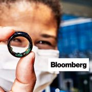 Kimberly Noel, director of Stony Brook Medicine Telehealth, holds up the Oura ring. Bloomberg, Amy Lombard