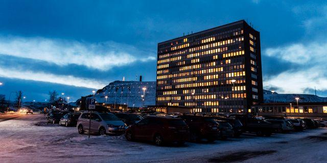 LKAB:s huvudkontor i Kiruna. Karin Wesslén/TT / TT NYHETSBYRÅN