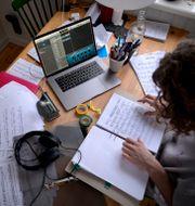 Distansundervisning med musikstuderande. Janerik Henriksson/TT / TT NYHETSBYRÅN