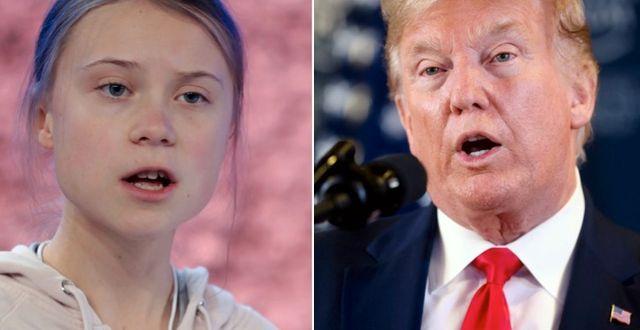 """Donald Trump säger att han """"skulle ha älskat"""" att träffa Greta Thunberg. TT"""