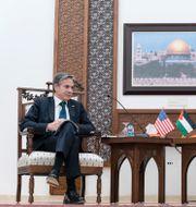 Antony Blinken och den palestinske presidenten Mahmoud Abbas. Alex Brandon / TT NYHETSBYRÅN