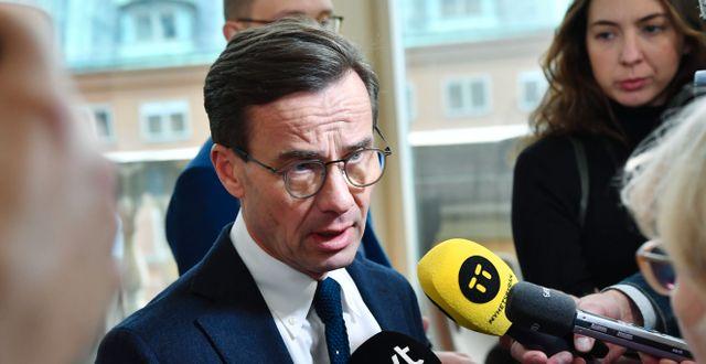 Partiledaren Ulf Kristersson. Jonas Ekströmer/TT / TT NYHETSBYRÅN
