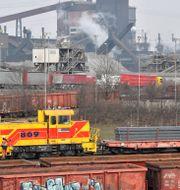 Krupp Mannesmanns stålverk i Duisburg. Martin Meissner / TT NYHETSBYRÅN
