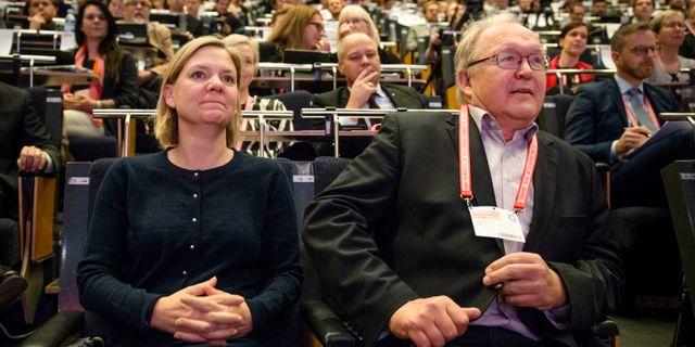 Göran Persson med finansminister Magdalena Andersson (S).  Filip Erlind/TT / TT NYHETSBYRÅN