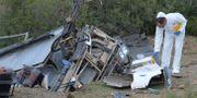 Teknisk undersökning efter busskraschen. FETHI BELAID / AFP