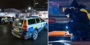 Polisinsats vid akuten i Kristianstad/Polisens tekniker på brottsplatsen TT