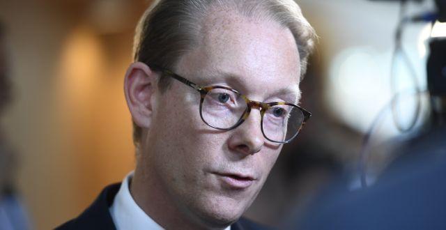 Tobias Billström, Moderaternas gruppledare i riksdagen.  Henrik Montgomery/TT / TT NYHETSBYRÅN