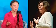 Greta Thunberg och Isabella Lövin TT