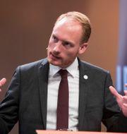 Aron Emilsson, Sverigedemokraternas talesperson för kulturpolitik. Terje Pedersen / TT NYHETSBYRÅN