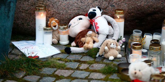 Minnesplats för 12-årige Dante Thomas Johansson/TT / TT NYHETSBYRÅN