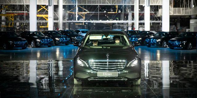 illustrationsbild: Mercedesfabrik utanför Moskva. Pavel Golovkin / TT NYHETSBYRÅN