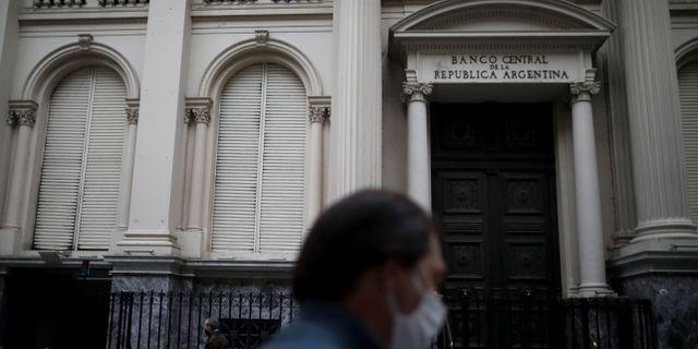 Argentinas centralbank i Buenos Aires.  Natacha Pisarenko / TT NYHETSBYRÅN