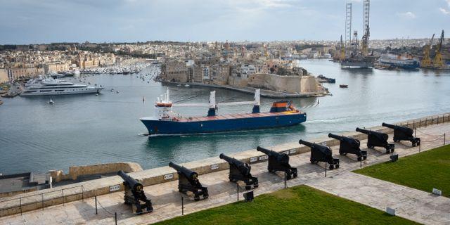 Arkivbild: Vy över fartyg utanför Maltas huvudstad Valletta.  Wiktor Nummelin/TT / TT NYHETSBYRÅN
