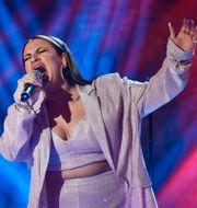 Paulina Pancenkov i en fredagsfinal i TV4:s Idol. Anders Wiklund/TT / TT NYHETSBYRÅN