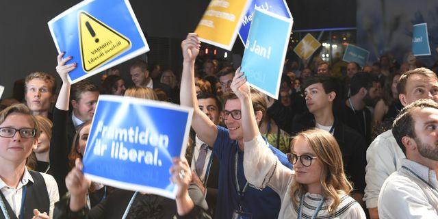Liberalernas valvaka 2018. Arkivbild. Fredrik Sandberg/TT / TT NYHETSBYRÅN